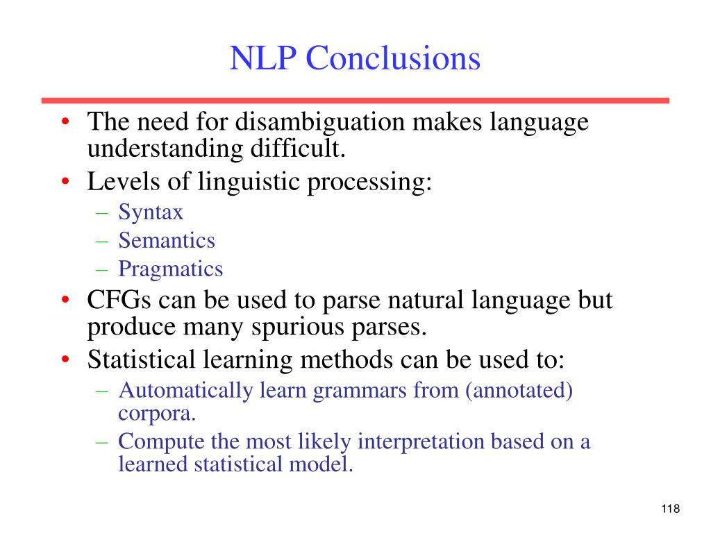 NLP Conclusions