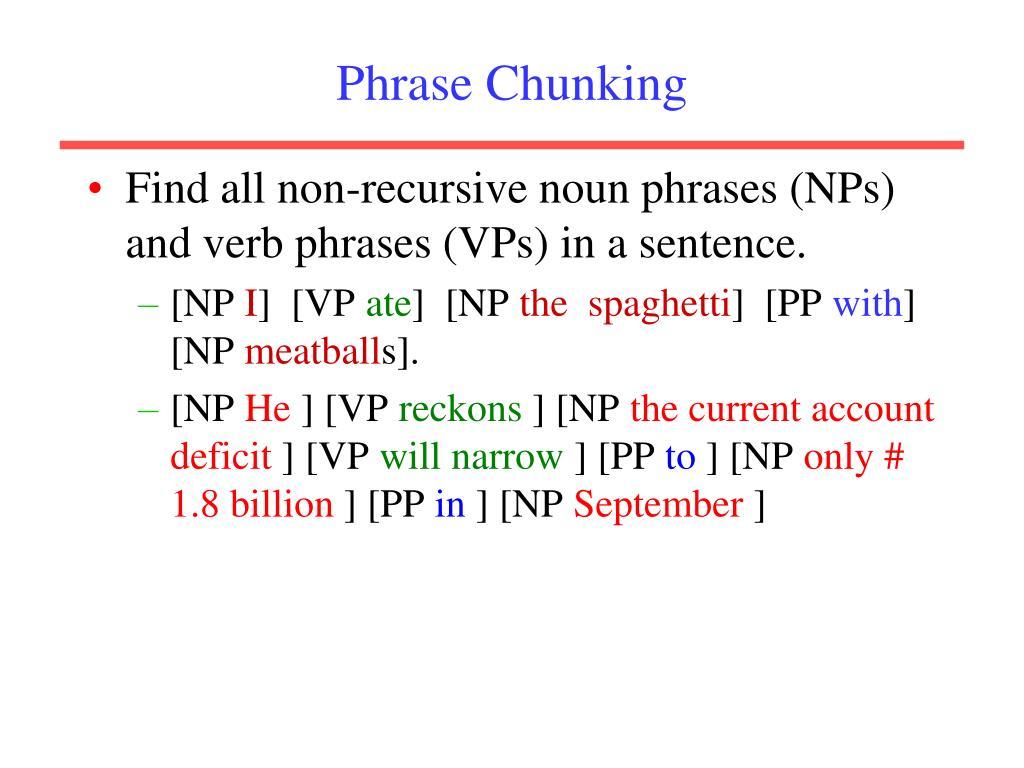 Phrase Chunking