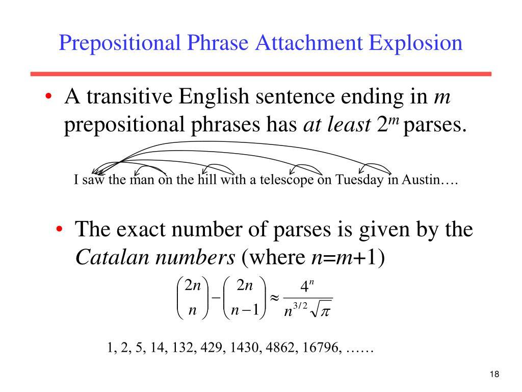 Prepositional Phrase Attachment Explosion