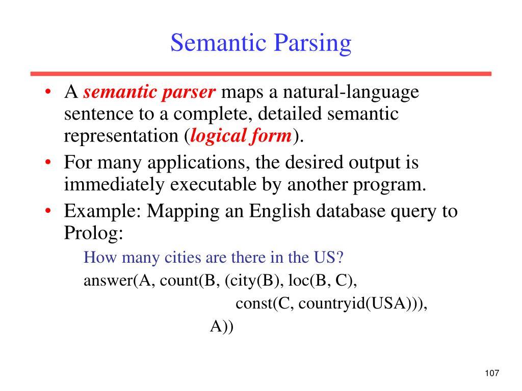 Semantic Parsing