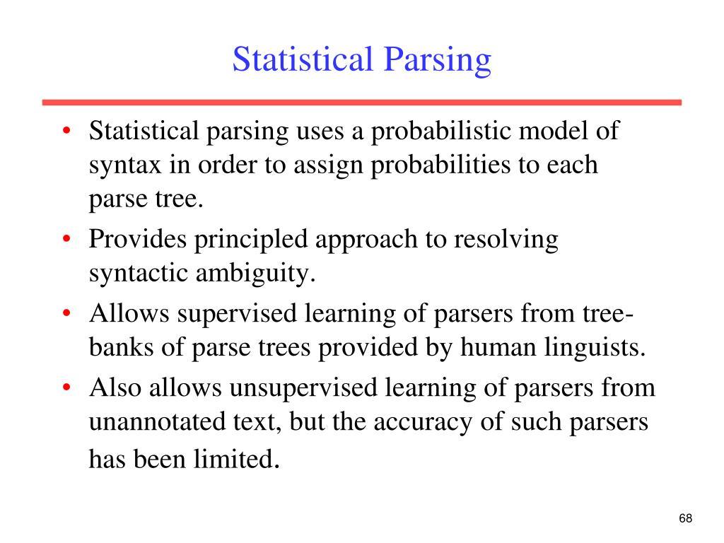 Statistical Parsing