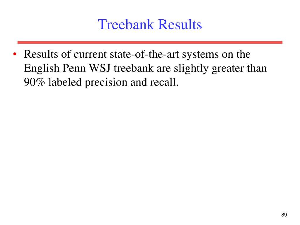 Treebank Results