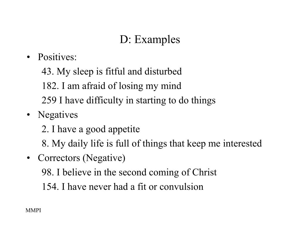 D: Examples