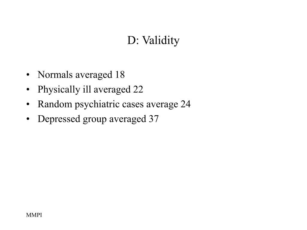D: Validity
