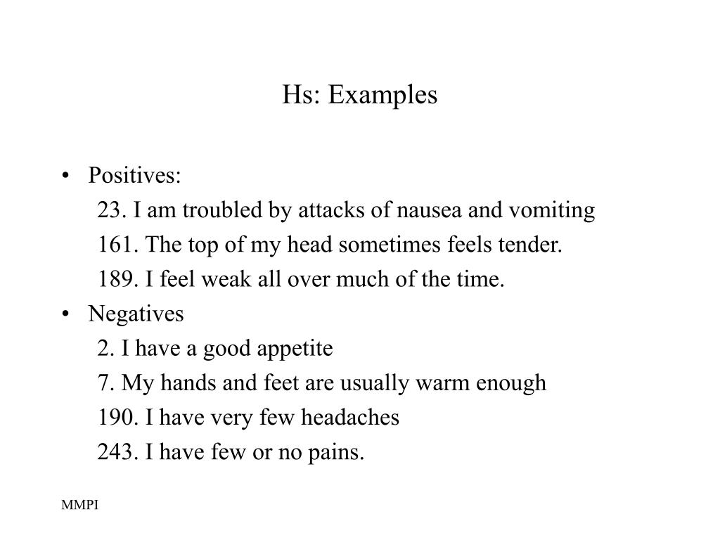 Hs: Examples