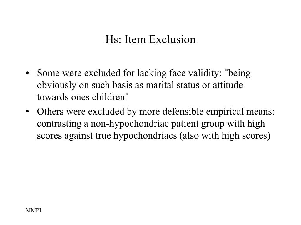 Hs: Item Exclusion