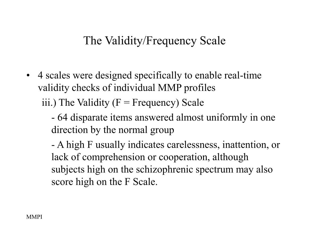 The Validity/Frequency Scale