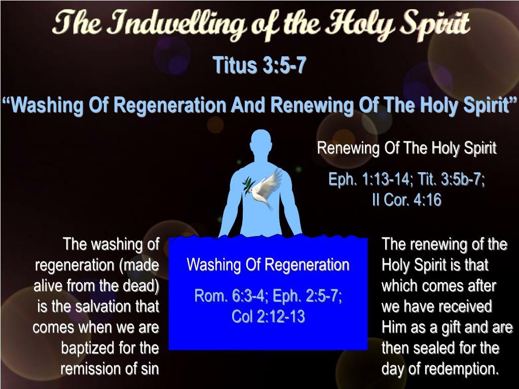 Renewing Of The Holy Spirit