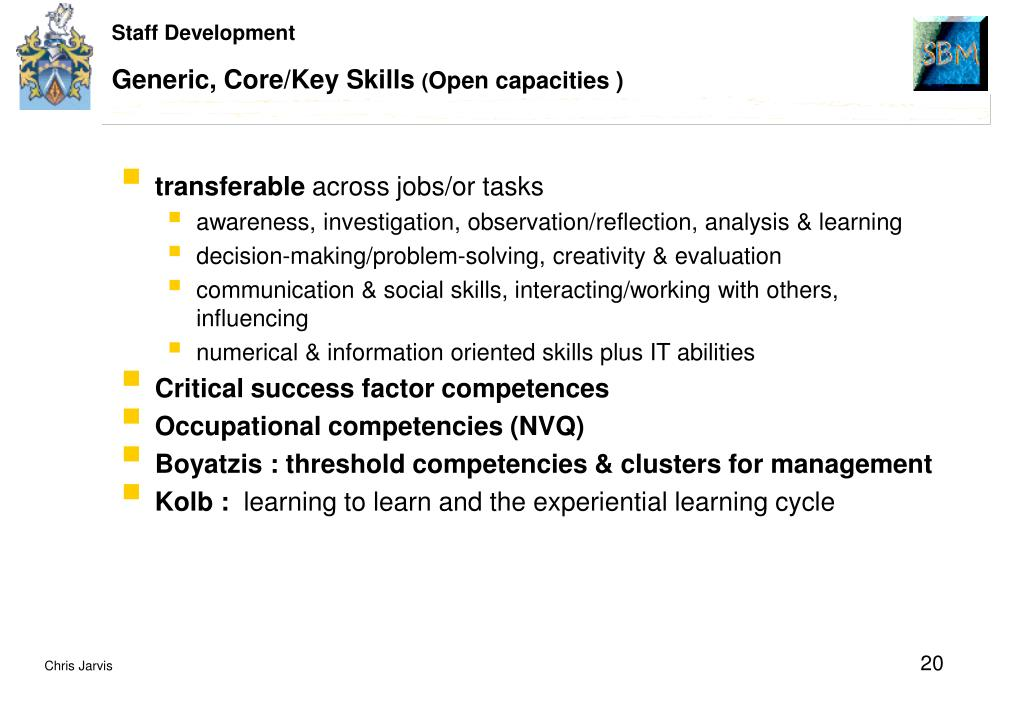 Generic, Core/Key Skills