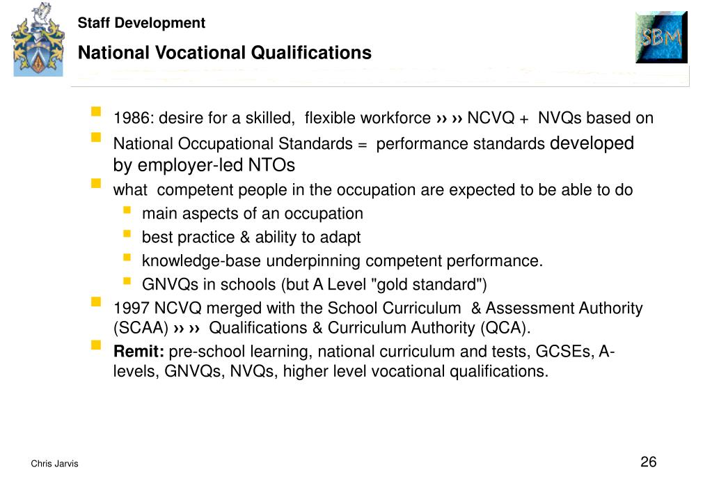 National Vocational Qualifications