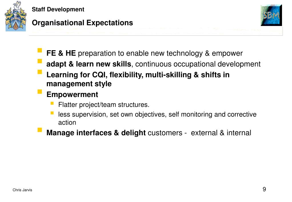 Organisational Expectations