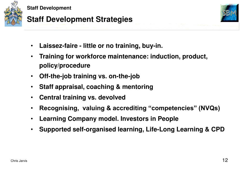 Staff Development Strategies