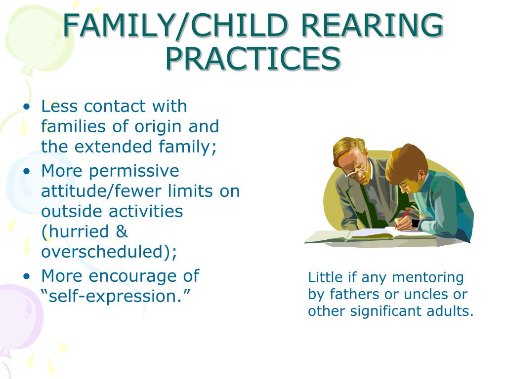FAMILY/CHILD REARING PRACTICES
