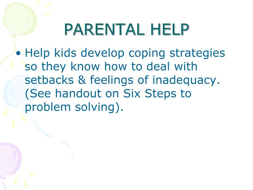 PARENTAL HELP
