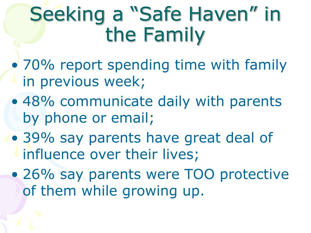 """Seeking a """"Safe Haven"""" in  the Family"""