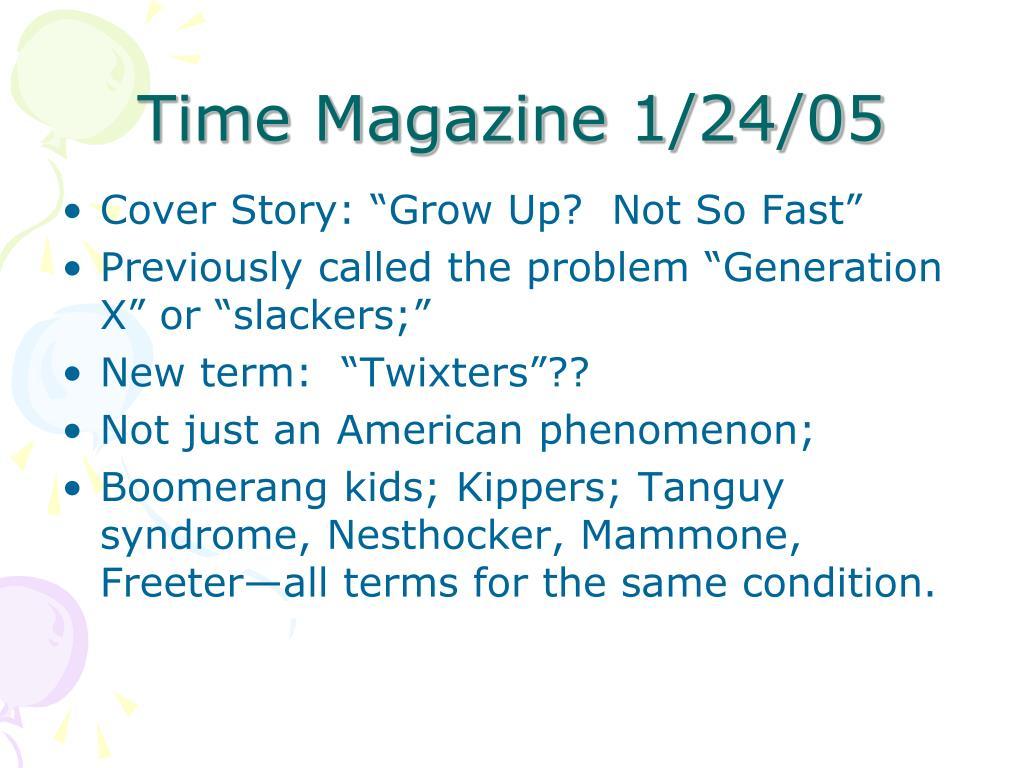 Time Magazine 1/24/05
