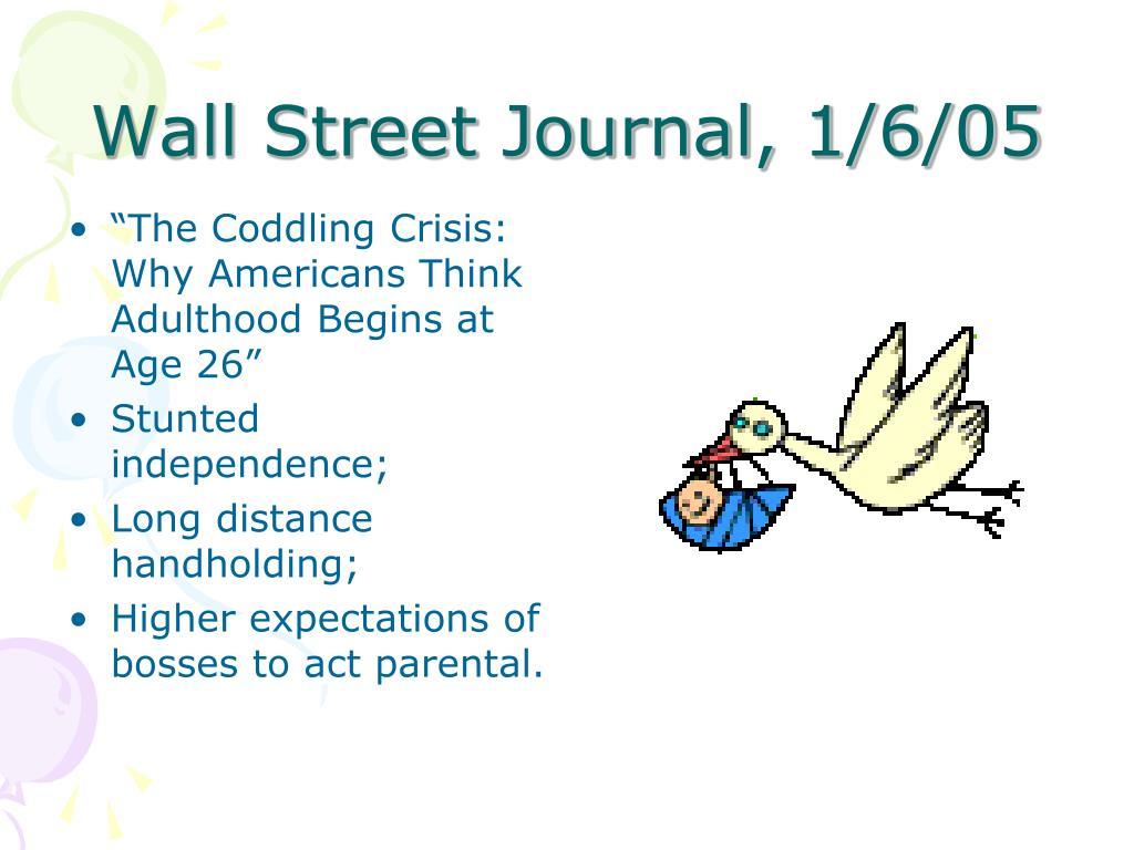 Wall Street Journal, 1/6/05