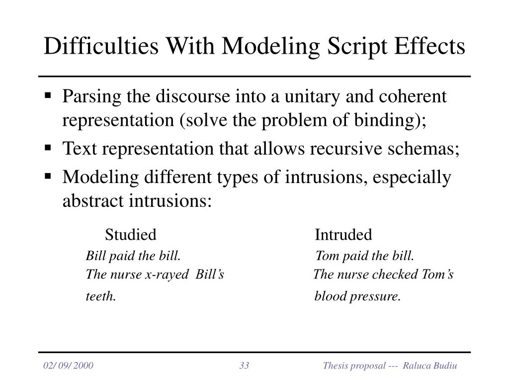 Difficulties With Modeling Script Effects