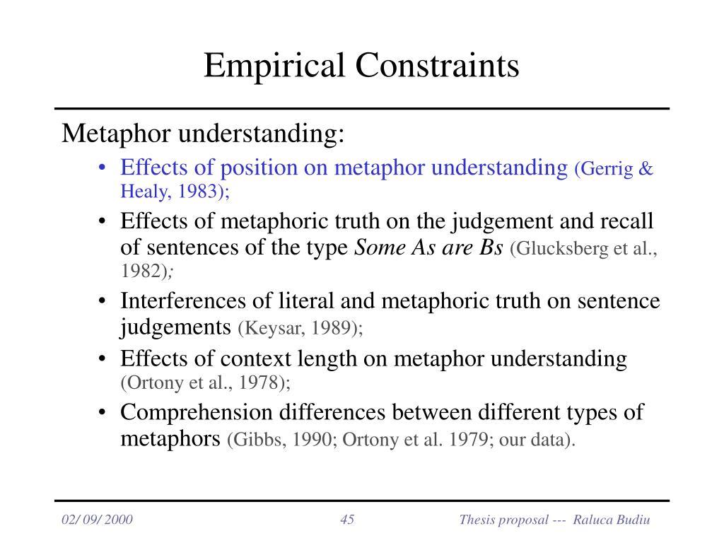 Empirical Constraints