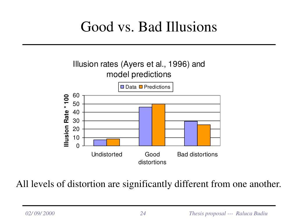 Good vs. Bad Illusions