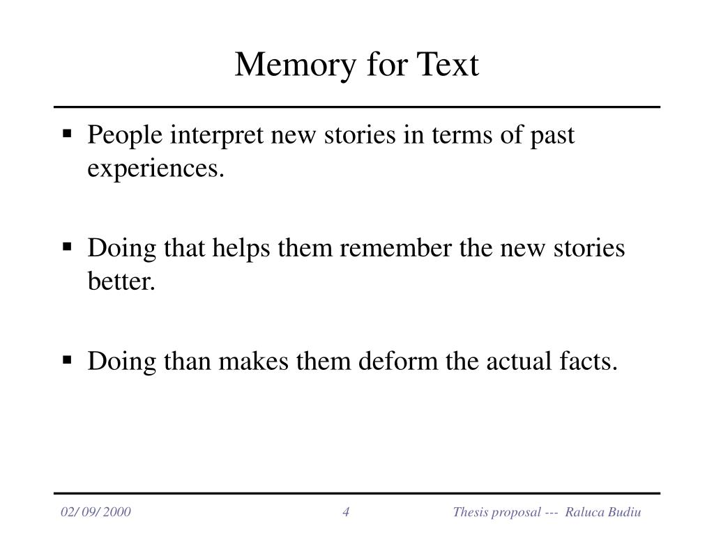 Memory for Text