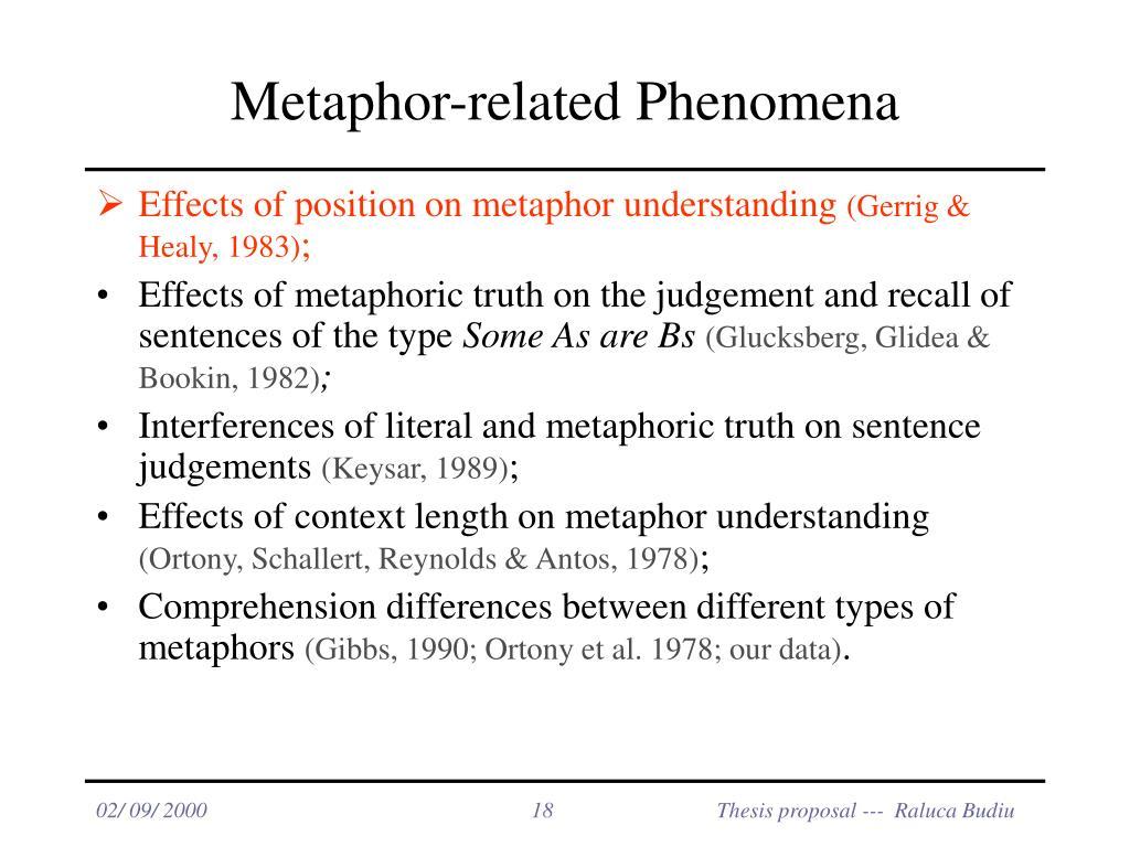 Metaphor-related Phenomena