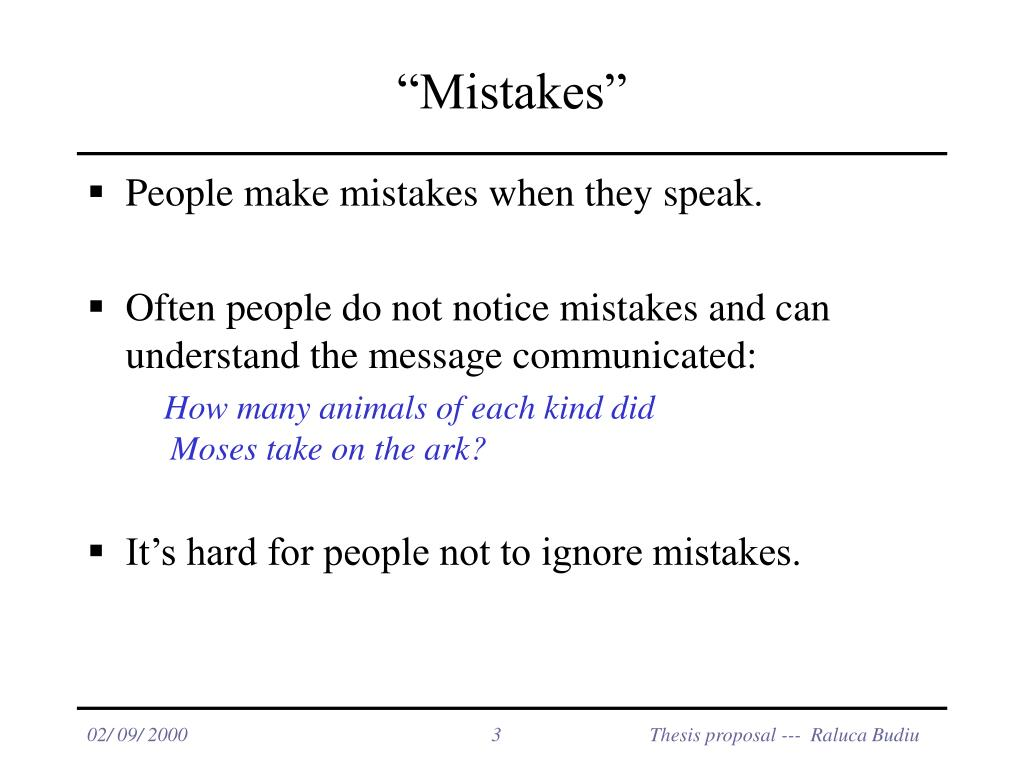 """Mistakes"""