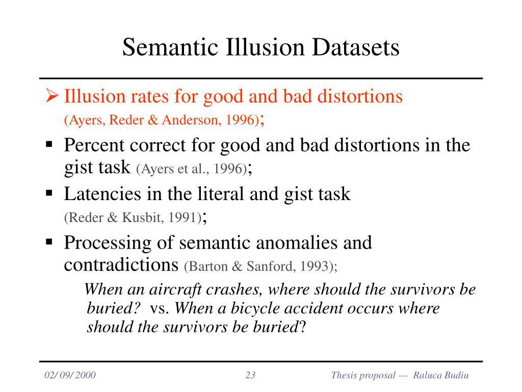 Semantic Illusion Datasets