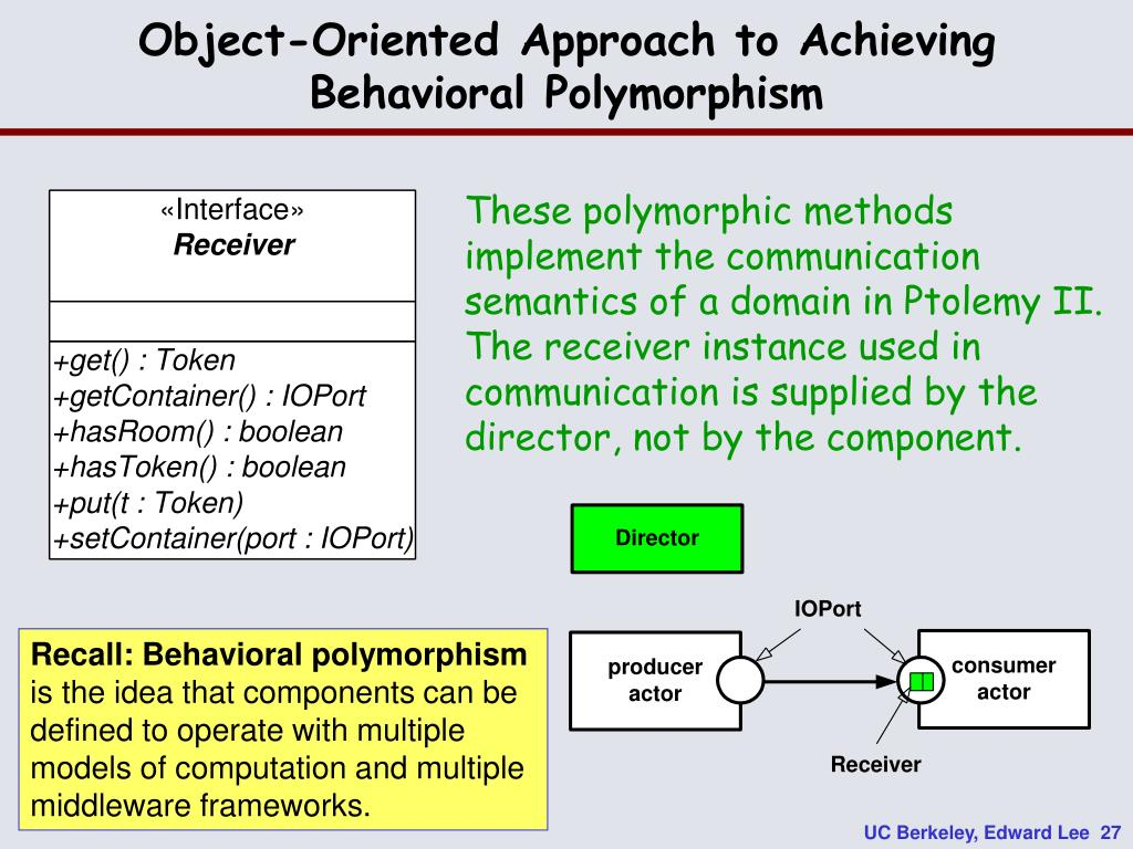 Object-Oriented Approach to Achieving Behavioral Polymorphism
