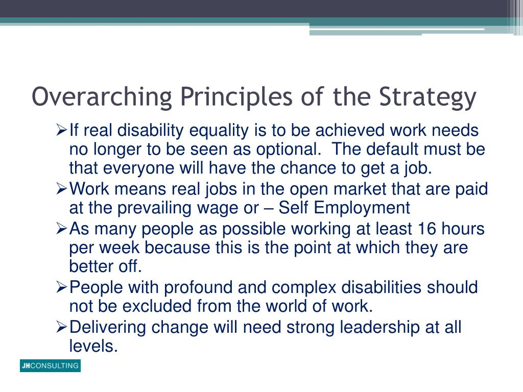 Overarching Principles of the Strategy