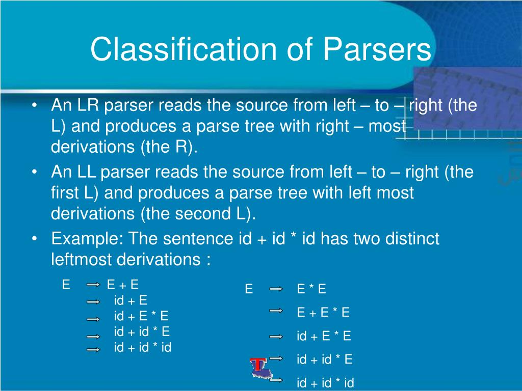 Classification of Parsers