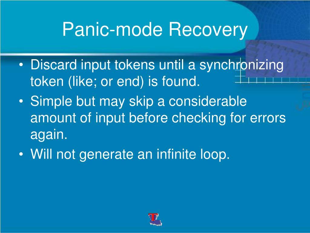 Panic-mode Recovery