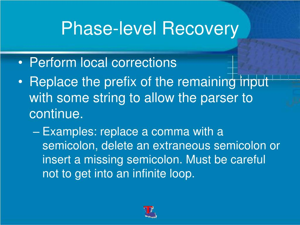 Phase-level Recovery
