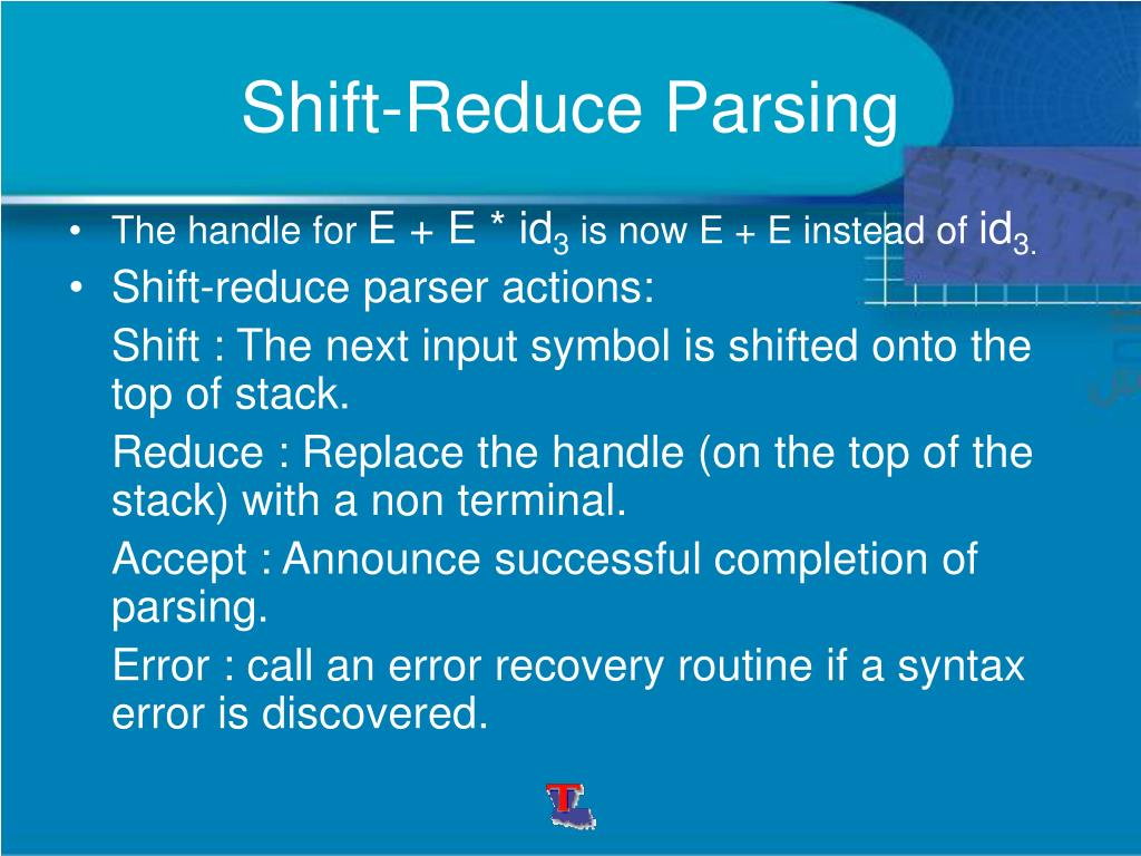 Shift-Reduce Parsing