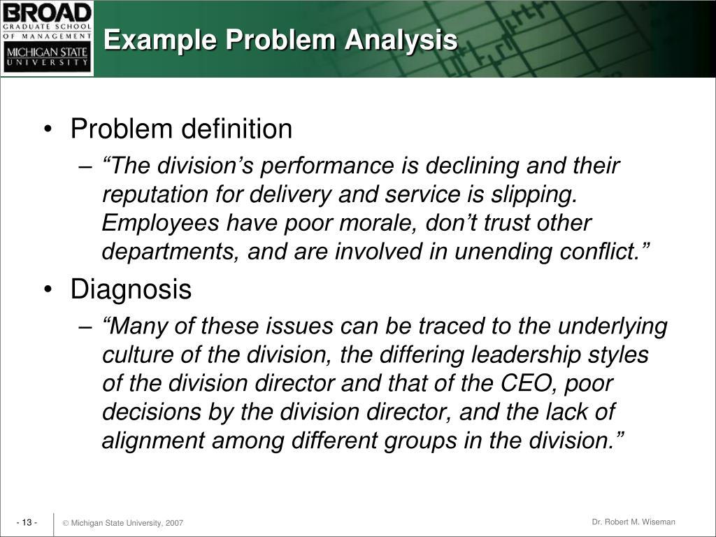 Example Problem Analysis