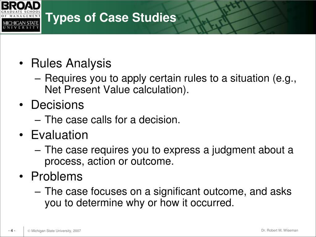 Types of Case Studies