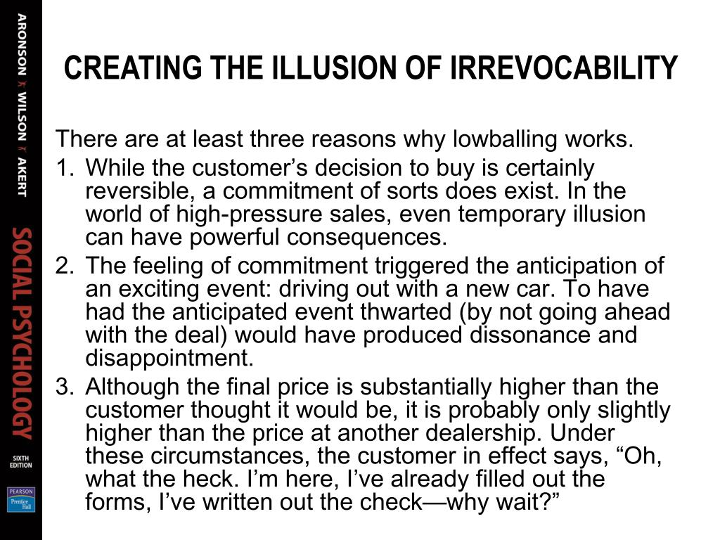 CREATING THE ILLUSION OF IRREVOCABILITY