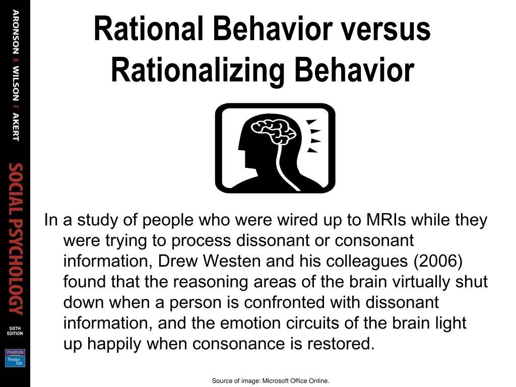 Rational Behavior versus Rationalizing Behavior