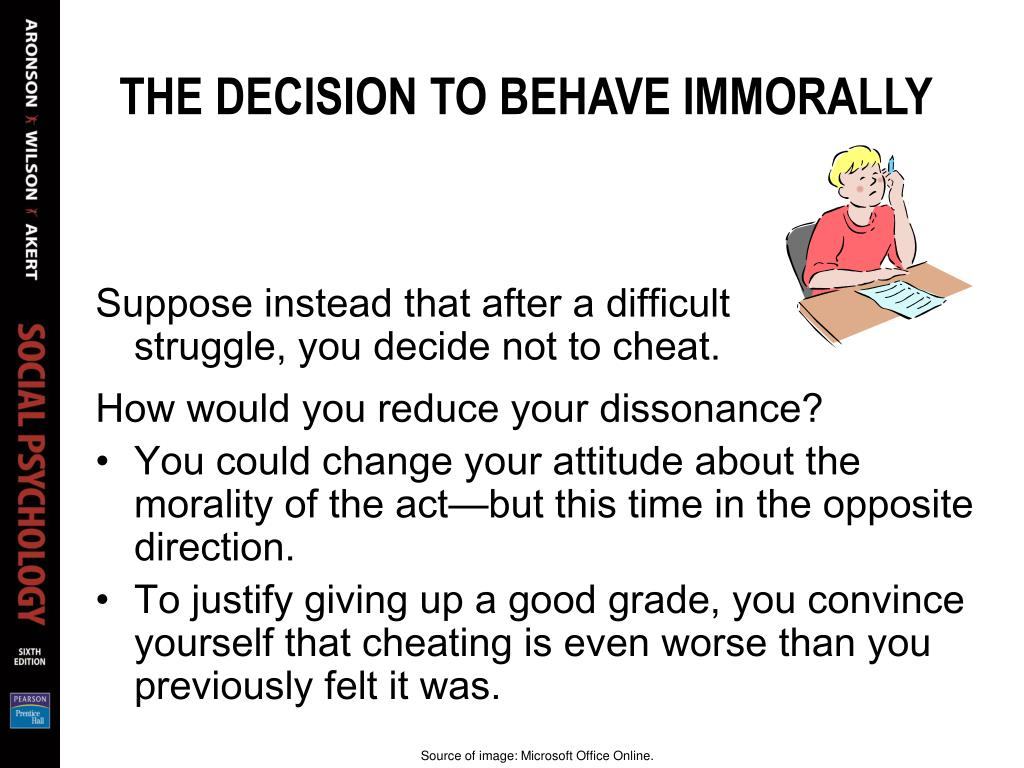 THE DECISION TO BEHAVE IMMORALLY