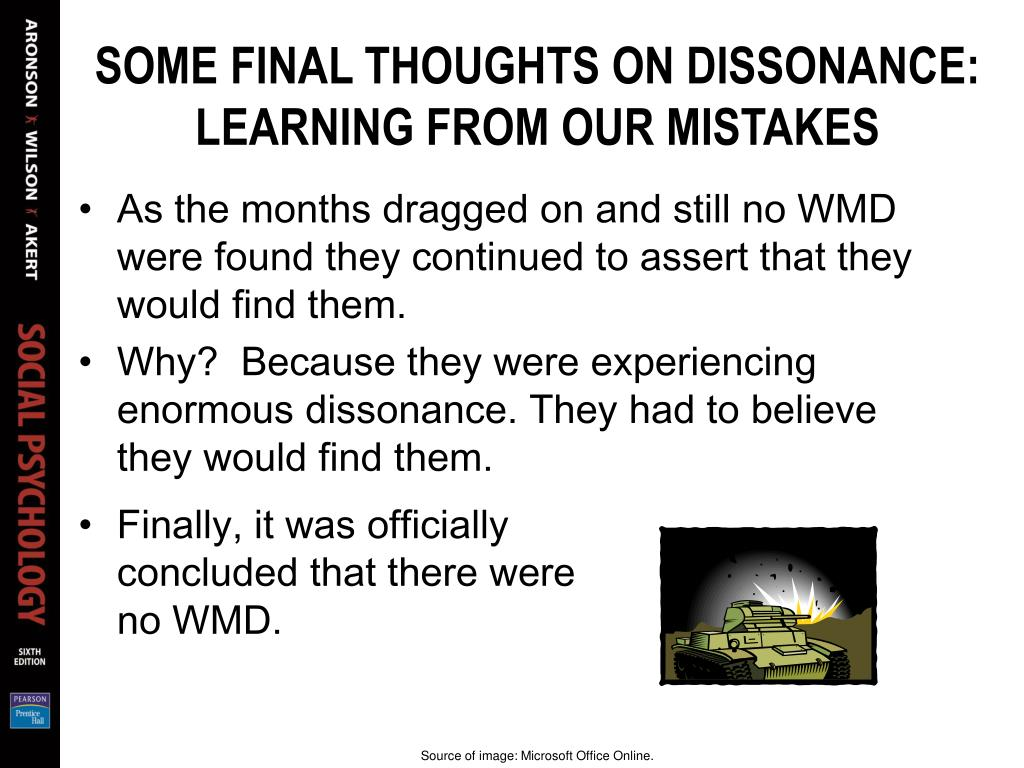 SOME FINAL THOUGHTS ON DISSONANCE: