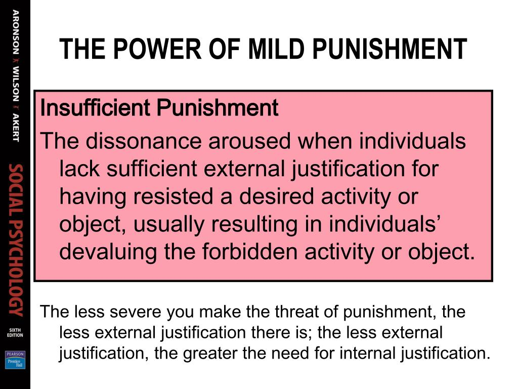 THE POWER OF MILD PUNISHMENT