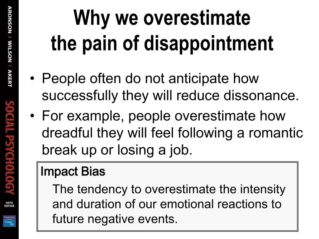 Why we overestimate