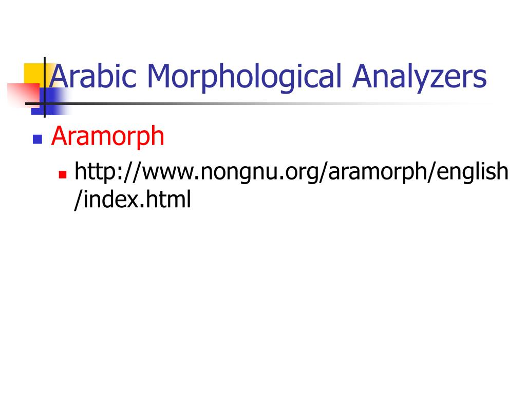Arabic Morphological Analyzers