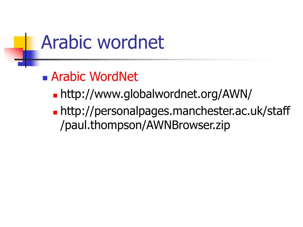 Arabic wordnet