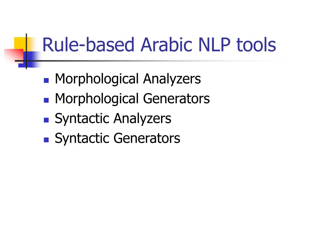 Rule-based Arabic NLP tools