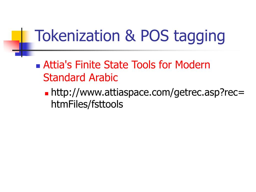 Tokenization & POS tagging