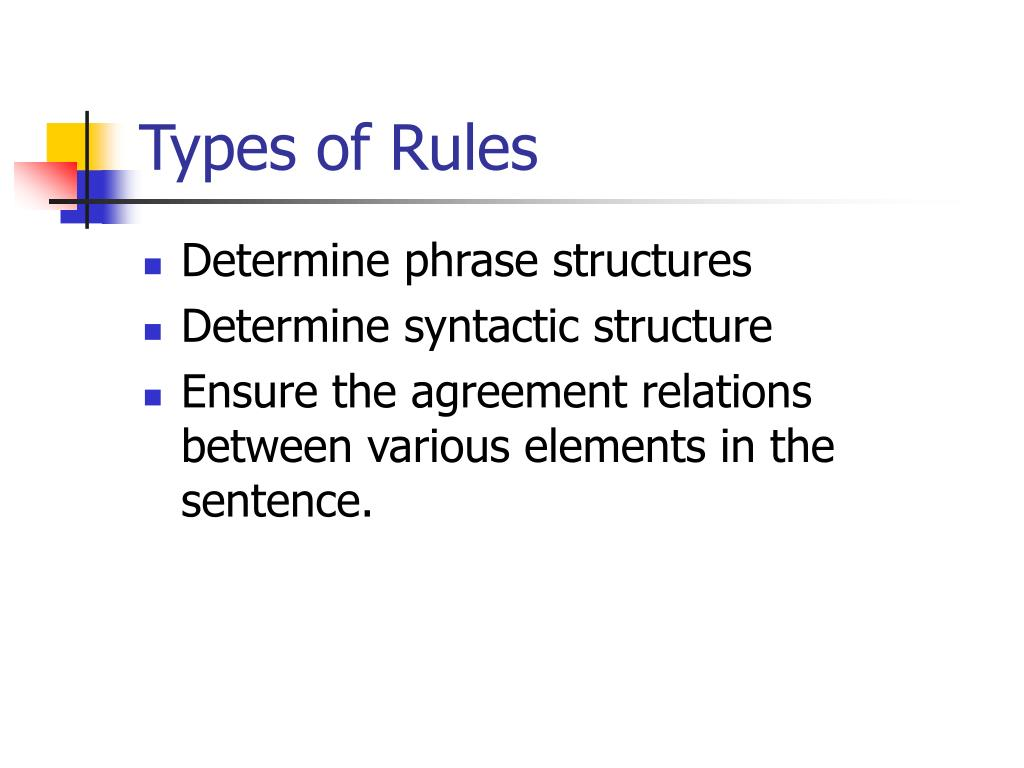 Types of Rules