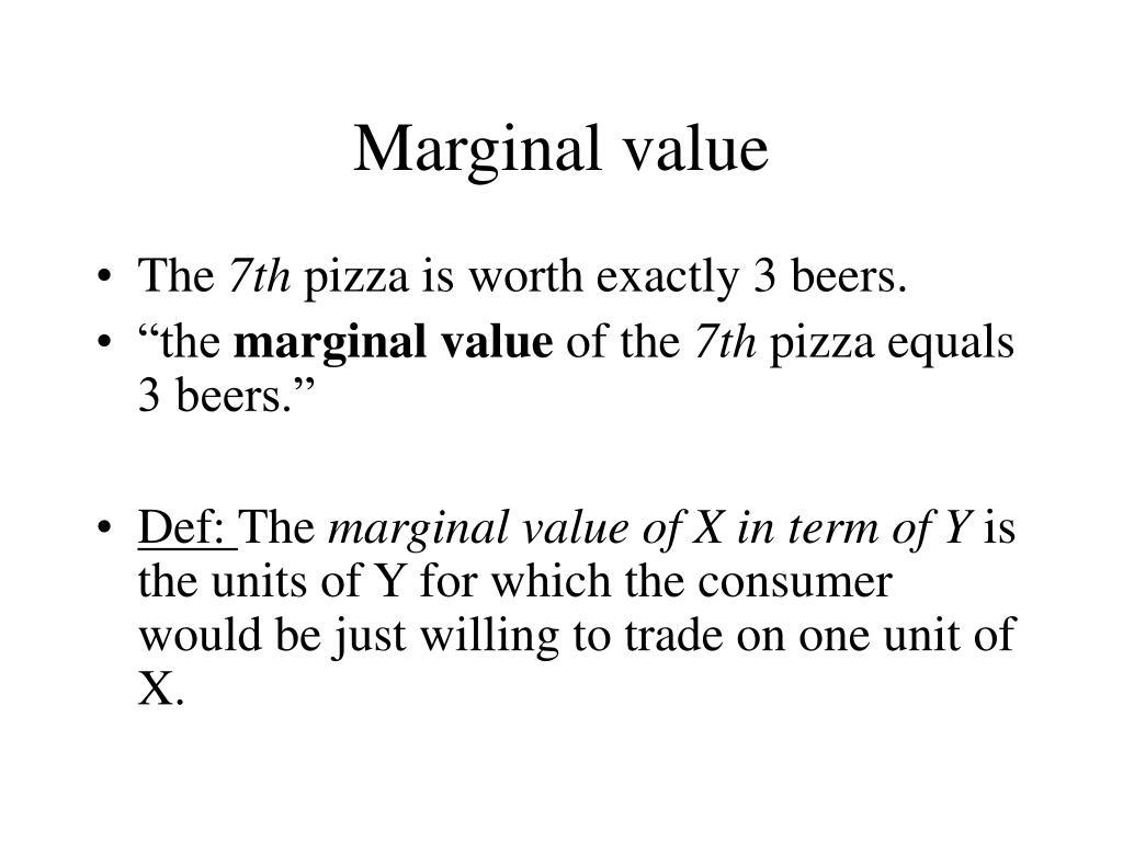 Marginal value