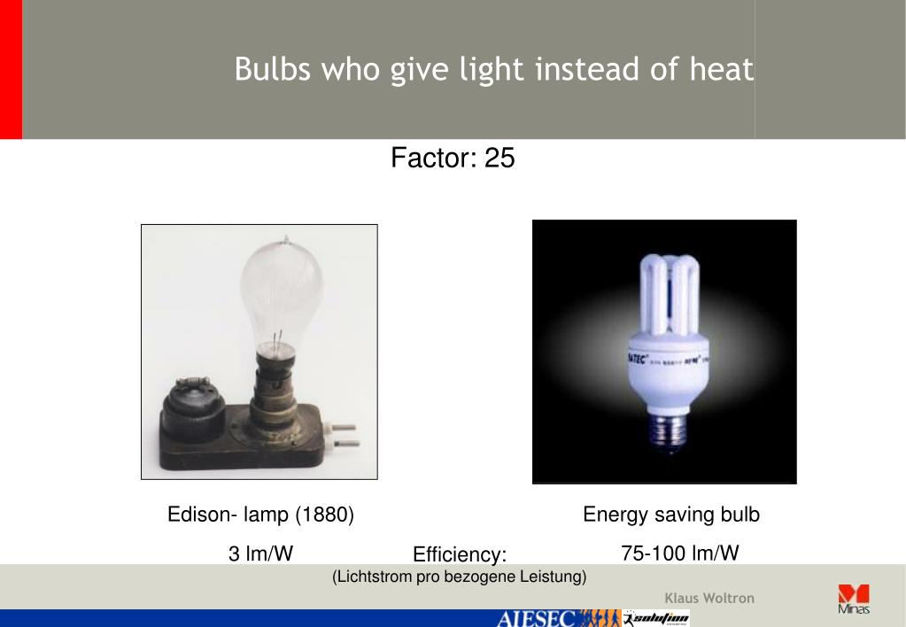 Bulbs who give light instead of heat