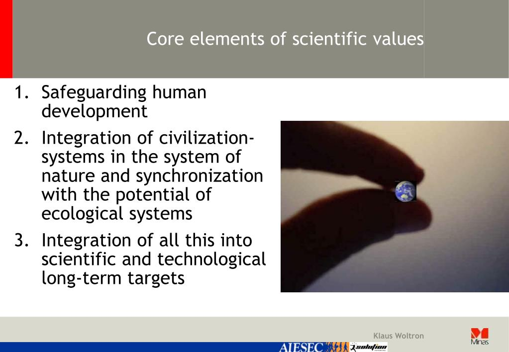 Core elements of scientific values